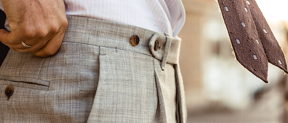 sportswear sur-mesure costume casual beige pantalon