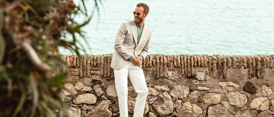 sportswear sur mesure costume casual beige