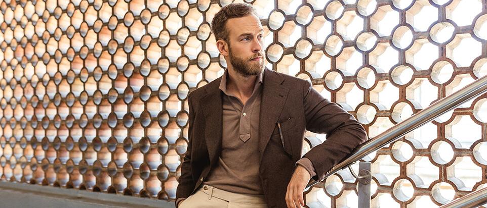 sportswear sur mesure costume casual veste brune