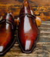 Bespoke By Chaussures Brunes Cirees