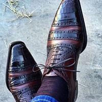 chaussure sur mesure empeigne