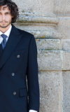 Manteau Sur Mesure Manteau Long Bleu