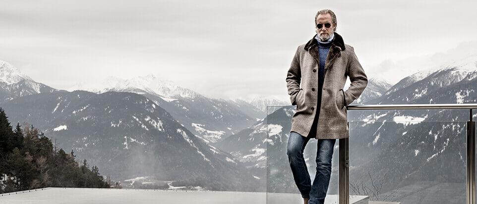 manteau sur mesure manteau long fourrure hiver