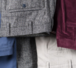 Sportswear Sur Mesure Chinos Corduroy Gris Bordeaux
